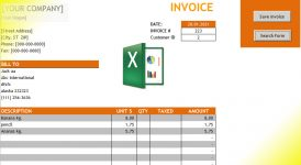 excel automated invoice
