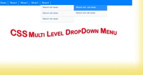 Css multilevel dropdown menu